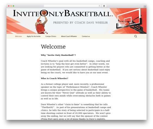 Twenty Thirteen template WordPress - inviteonlybasketball.com