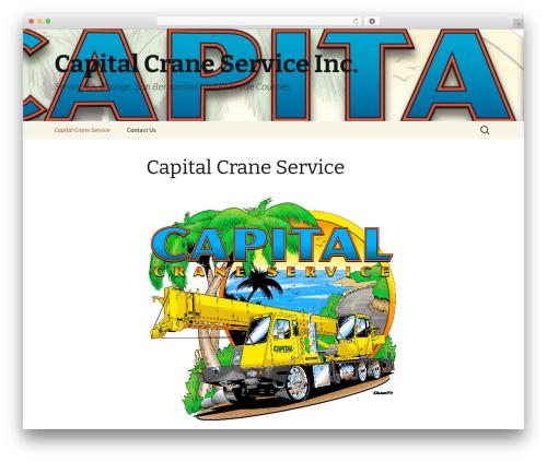 Twenty Thirteen WordPress website template - capitalcraneserviceinc.com