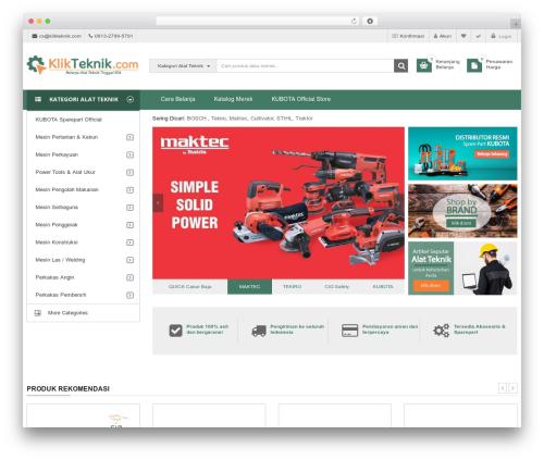 WordPress theme SW Market - klikteknik.com