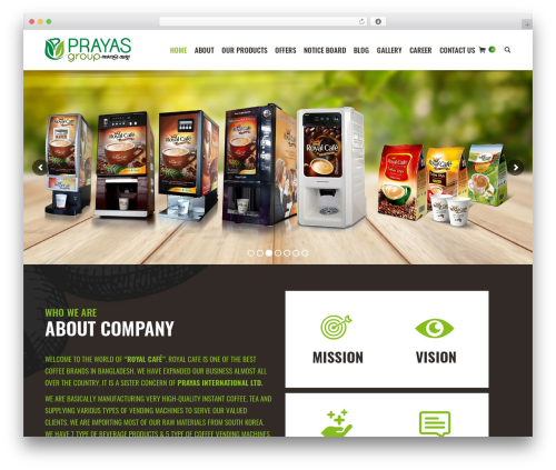 WordPress theme The7 - prayasbd.com