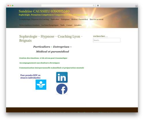 ZenLife WordPress page template - sophrologie69.com