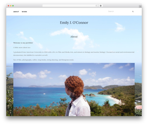 Activello theme WordPress portfolio - emilyjoconnor.com