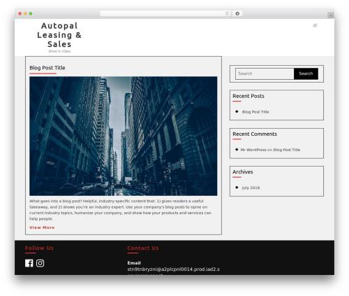 Automobile Car Dealer WordPress theme - theautopal.com