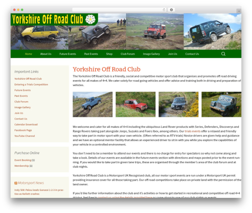 Best WordPress template Twenty Thirteen - yorkshireoffroadclub.net