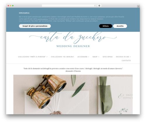 Hallie - Premium best wedding WordPress theme - cartadazucchero.net