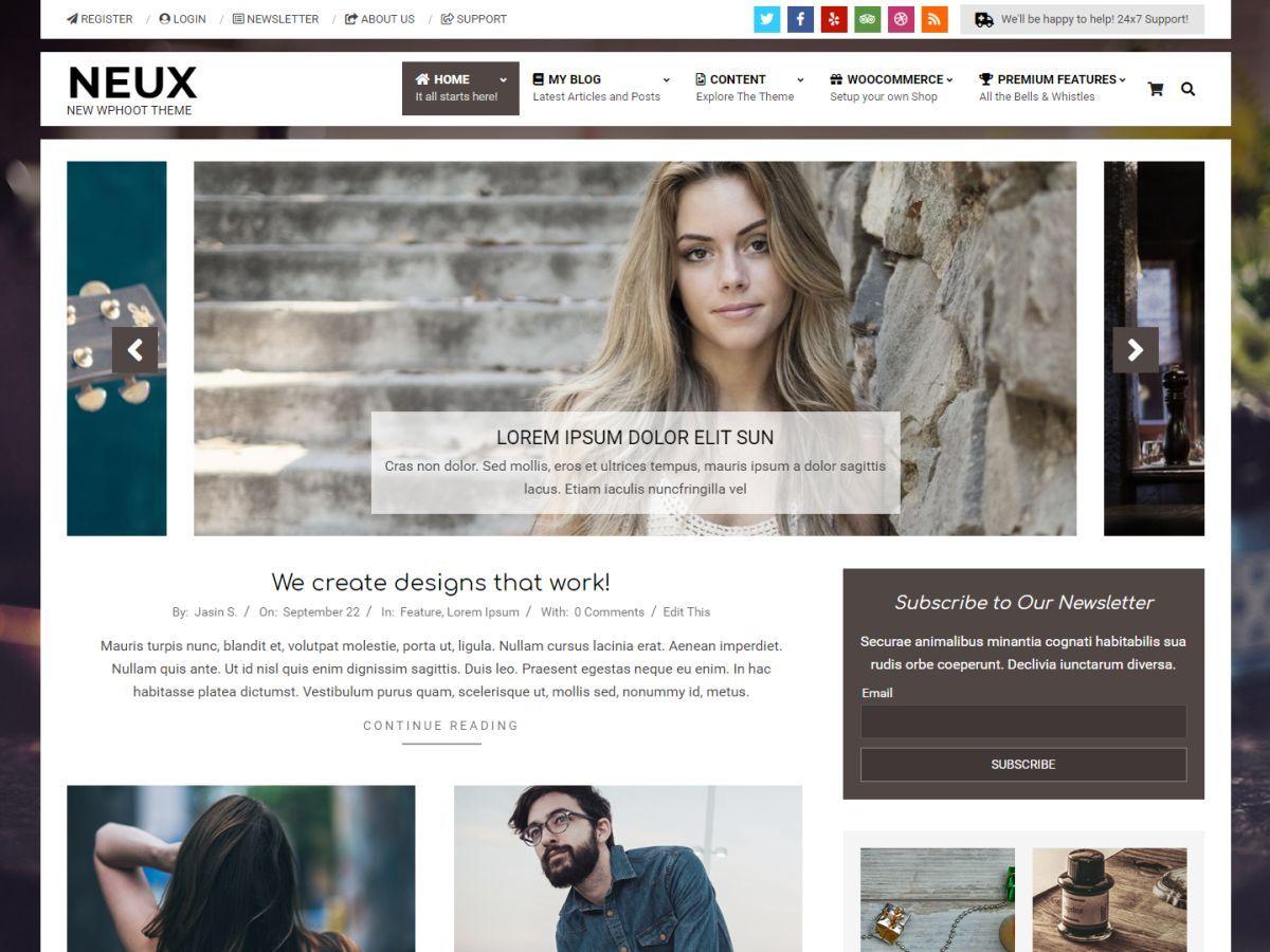 Neux newspaper WordPress theme