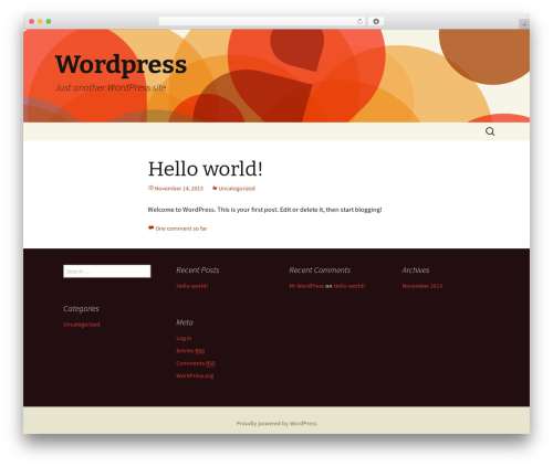 Twenty Thirteen best free WordPress theme - simplypensions.net