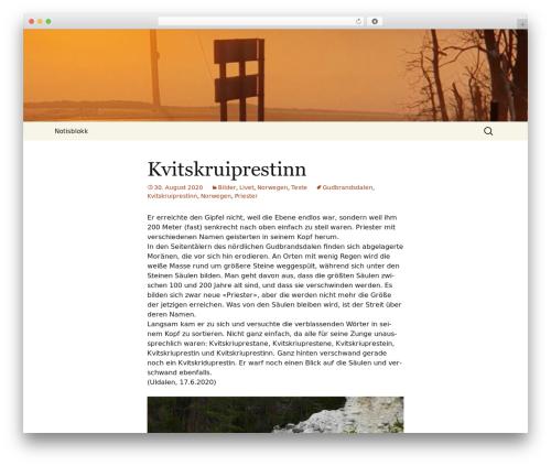 Twenty Thirteen free WordPress theme - blauhut.info