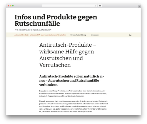 Twenty Thirteen WordPress free download - antirutsch-profi.com