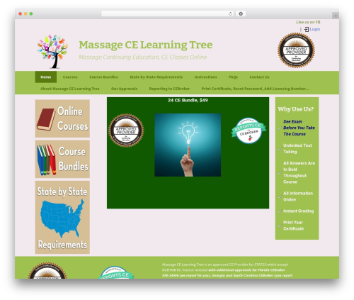 Twenty Thirteen WordPress theme - massagecelearningtree.com