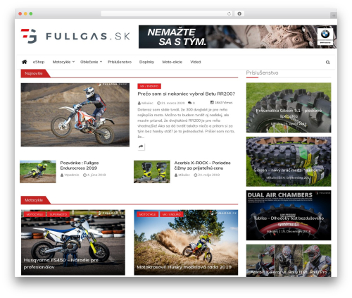 Ultra Seven WordPress theme - fullgas.sk
