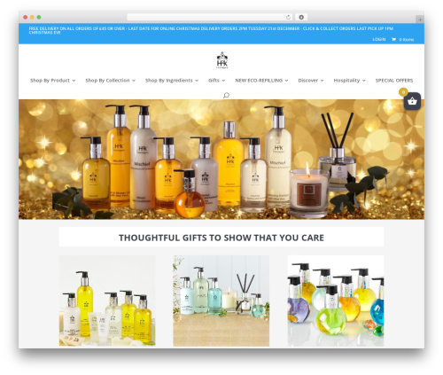 WordPress theme Divi - h2kskincare.com