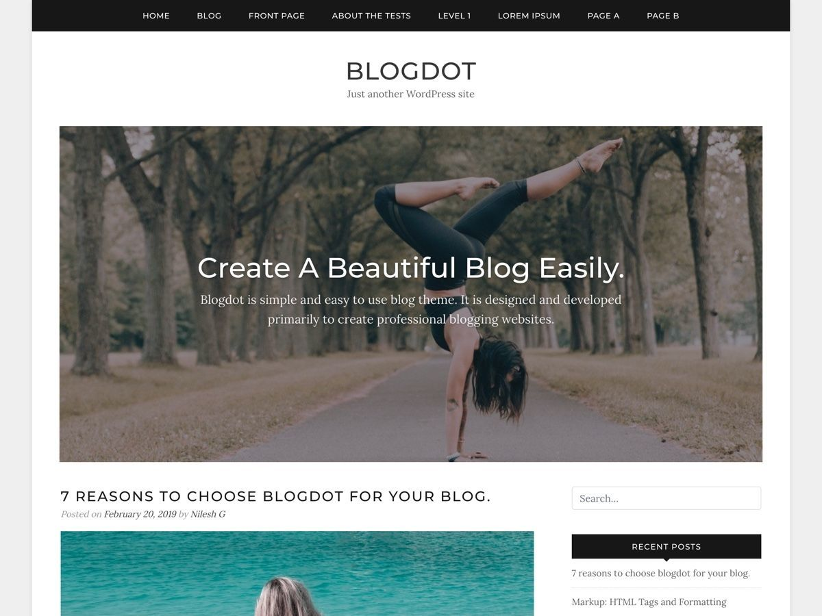 Blogdot WordPress blog template