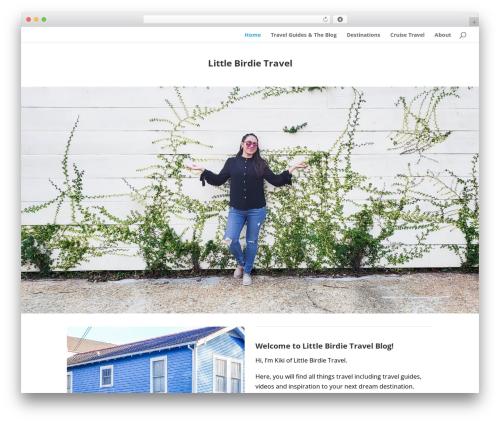 Divi theme WordPress - littlebirdietravel.com