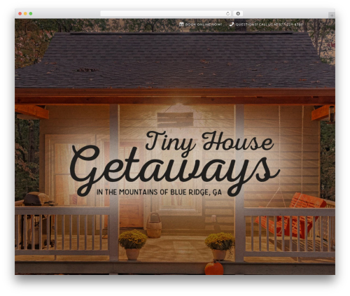 Divi WordPress website template - tinyhousegetaways.com