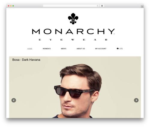 Eyewear WordPress website template - monarchyeyewear.com