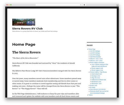Twenty Sixteen template WordPress free - sierraroversrvclub.com