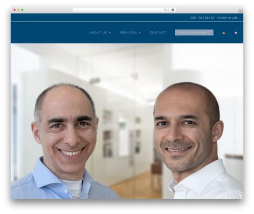 WordPress template Avada - zahnaerzte-muenchen-zentrum.de