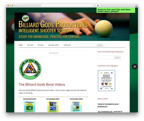 WordPress theme BilliardGods - billiardgods.com