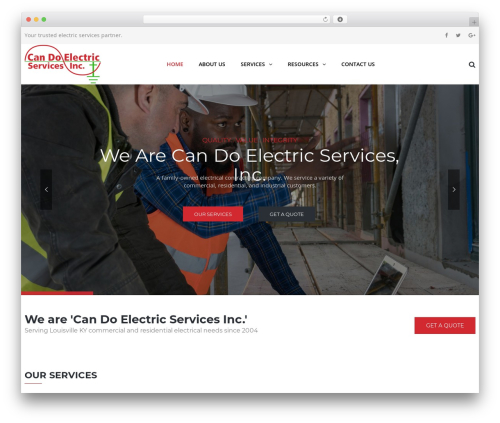 WordPress theme TheBuilt - candoelectric.com