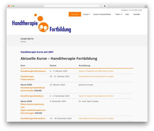 WordPress website template Bridge - handtherapie-fortbildung.com