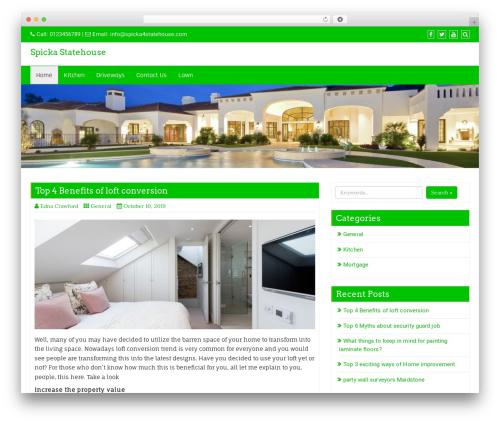Best WordPress theme Business Green - spicka4statehouse.com