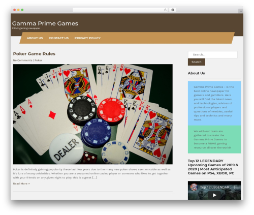Carpenter Lite WordPress news theme - gammaprimegames.com