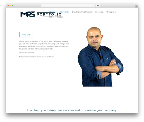 Divi personal blog WordPress theme - mpsportfolio.com