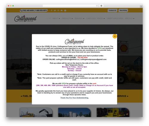Divi top WordPress theme - collingwoodfuels.com