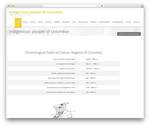 EXCEPTION template WordPress - indigenouspeopleofcolombia.com