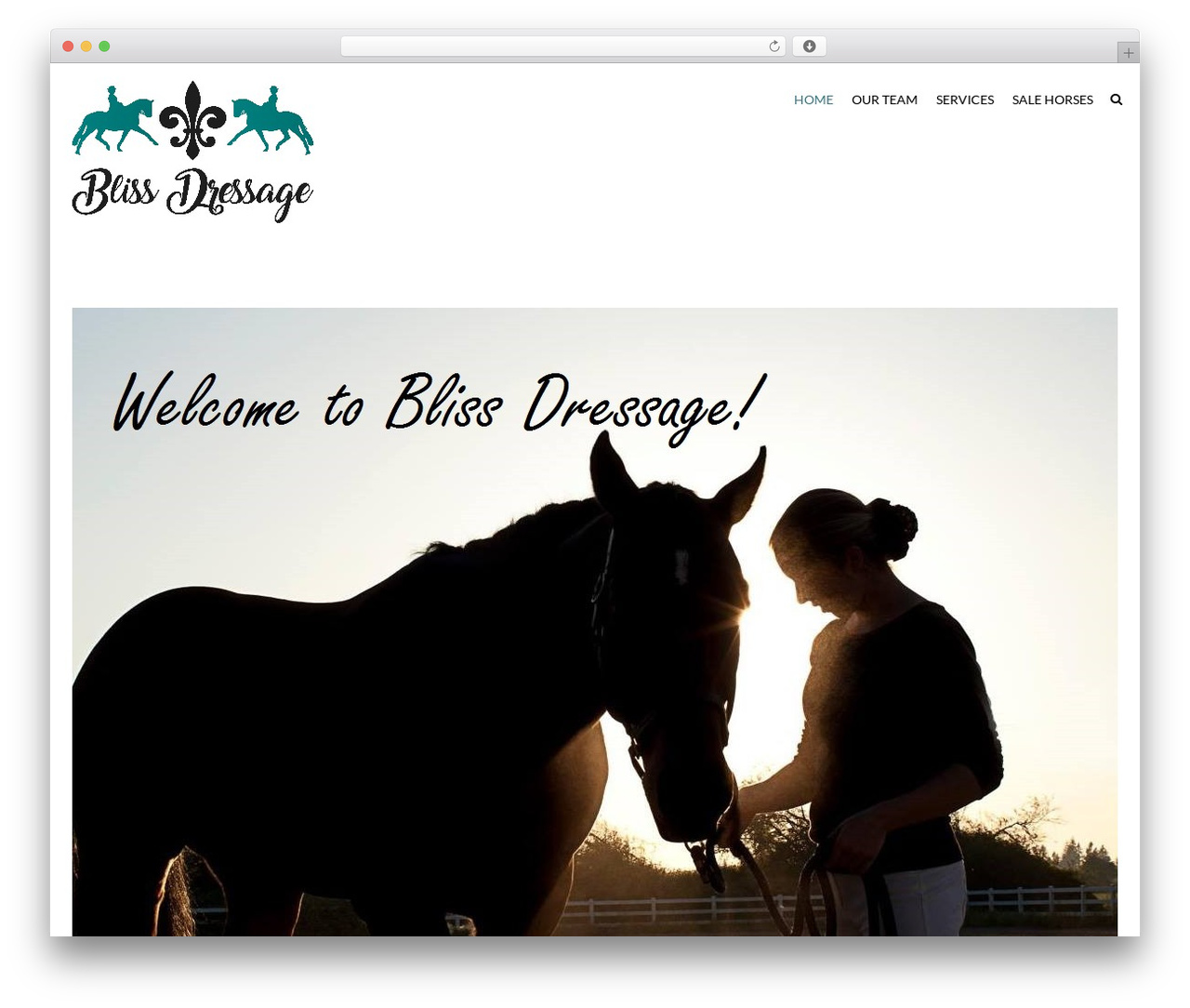 HorseClub WordPress page template - blissdressage.com