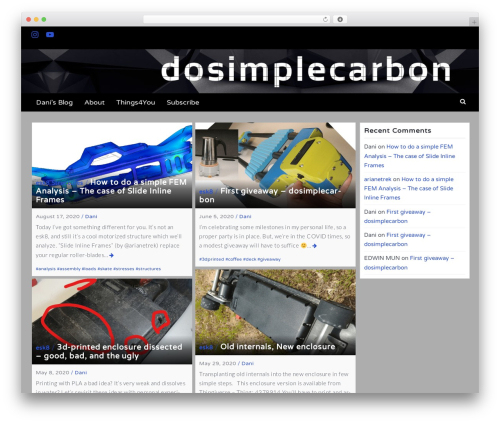 Latest WordPress template free download - dosimplecarbon.com
