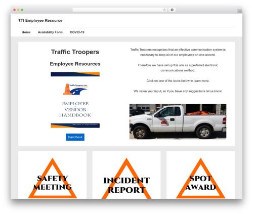 Responsive WP theme - trucktti.com