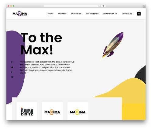 WordPress theme Blomma - maximamediagroup.com