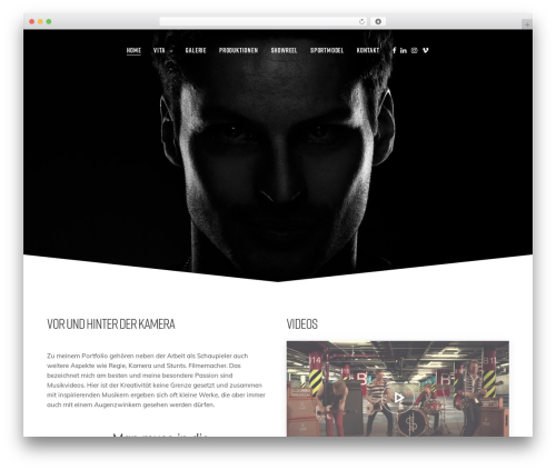WordPress website template Revolution - patrickjahns.com