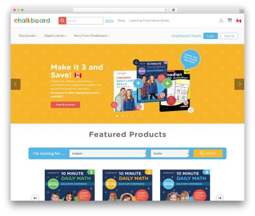 WordPress website template Salient - chalkboardpublishing.com