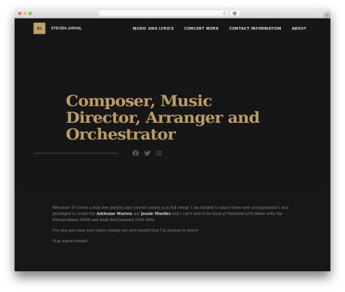 X WordPress website template - stevenjamailmusic.com