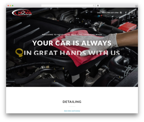 Autospa motors WordPress theme - novaautodetailing.com