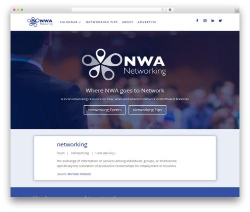 Divi template WordPress - nwanetworking.com