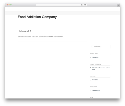 Nimva best WordPress template - foodaddictioncompany.com