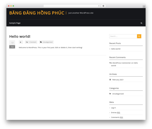 WordPress website template FitClub Pro - bangdanghongphuc.com