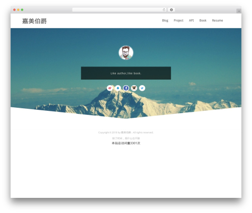 Akina top WordPress theme - gaozhe.top