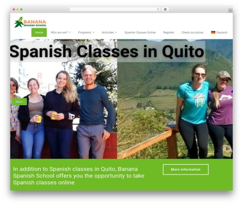 Rambo free website theme - bananaspanish.com