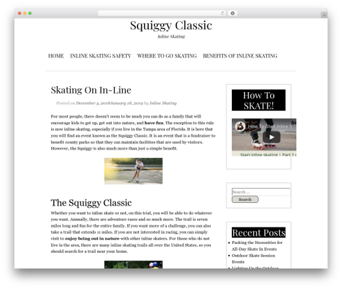 Serdika WordPress template - squiggyclassicinline.com