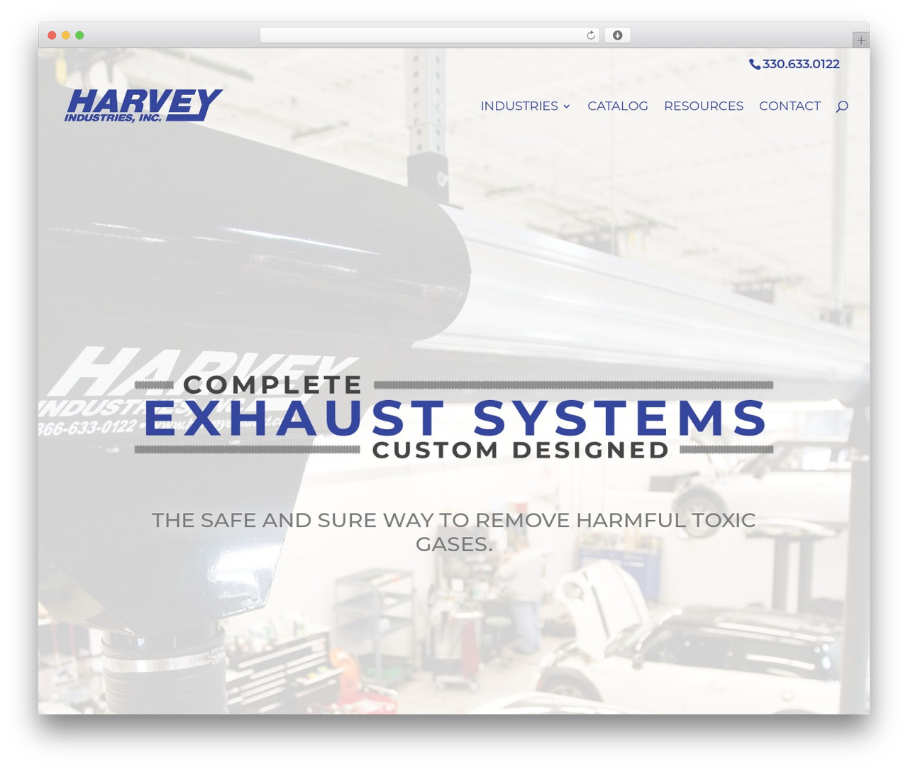 WordPress theme Divi - harveyexhaust.com