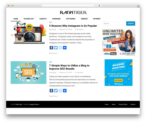 Best WordPress theme Revolution - ranktiger.com