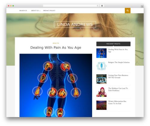 Bulan WordPress template free - lindaandrews.net