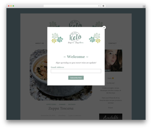 Button 2 WordPress theme design - ohmyketo.com