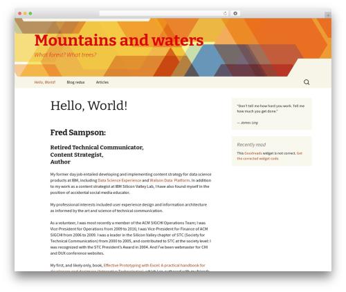 Twenty Thirteen WordPress theme download - fredsampson.com