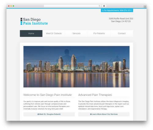 Unity best WordPress template - sandiegopain.com
